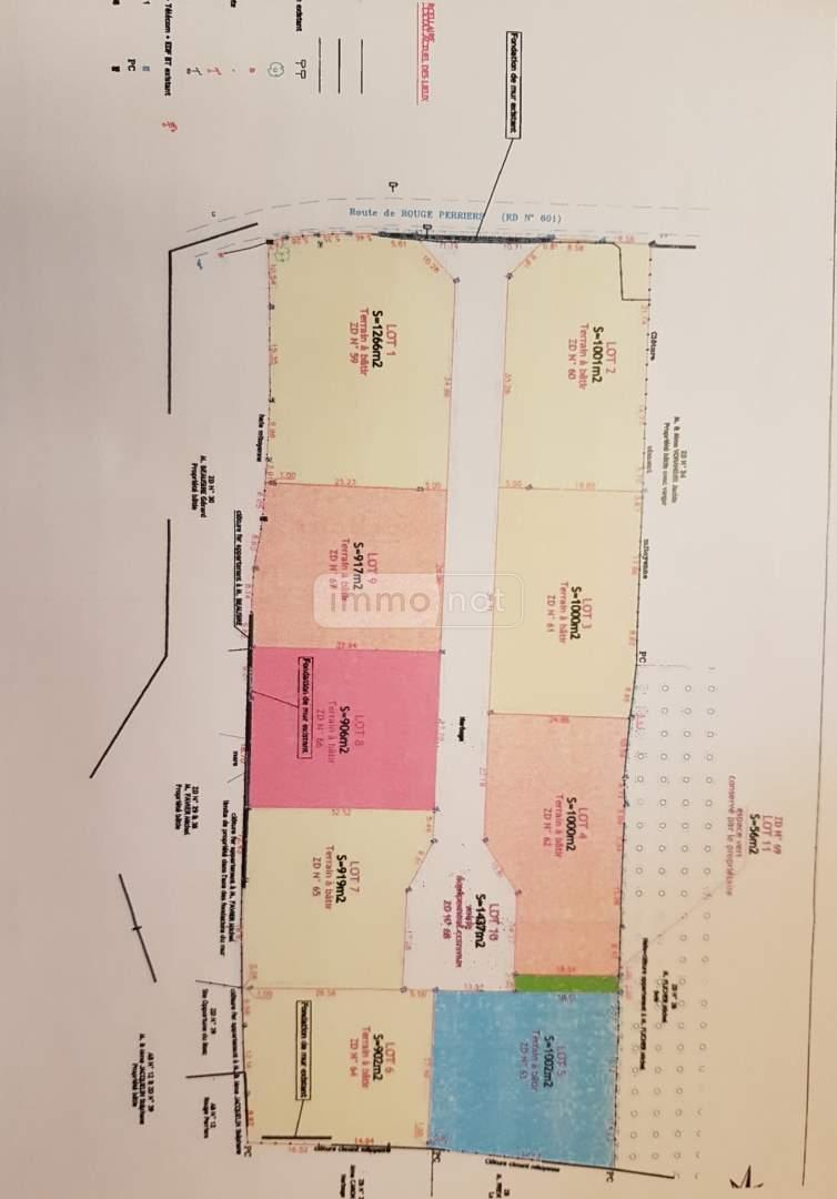 Terrain a batir a vendre Sainte-Opportune-du-Bosc 27110 Eure 917 m2  55900 euros
