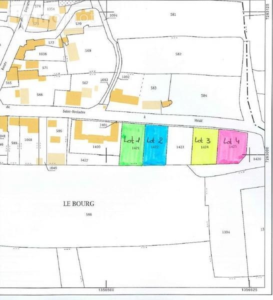 Terrain a batir a vendre Broualan 35120 Ille-et-Vilaine 717 m2  23316 euros