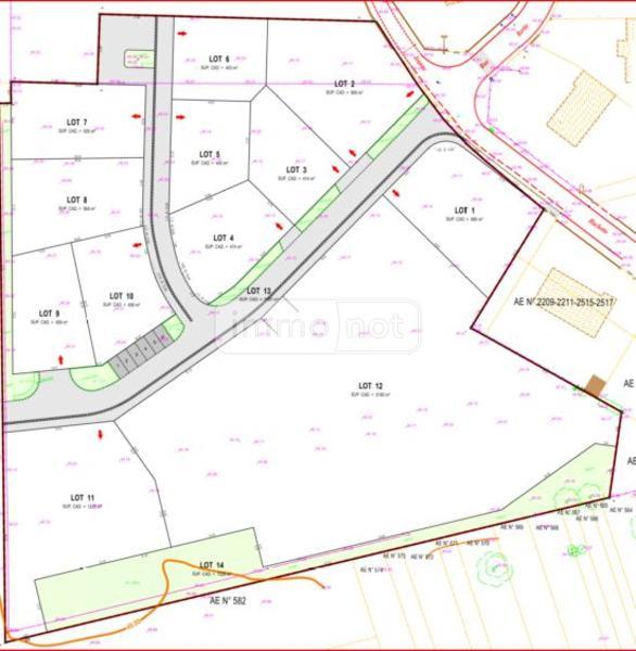 Terrain a batir a vendre La Ville-aux-Dames 37700 Indre-et-Loire 414 m2  78738 euros