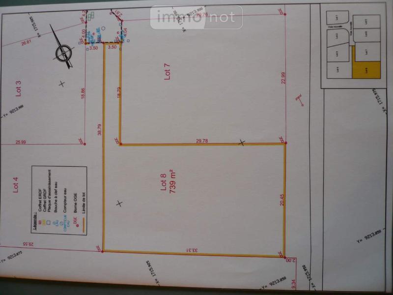 Terrain a batir a vendre Rumilly-en-Cambrésis 59281 Nord 739 m2  56786 euros