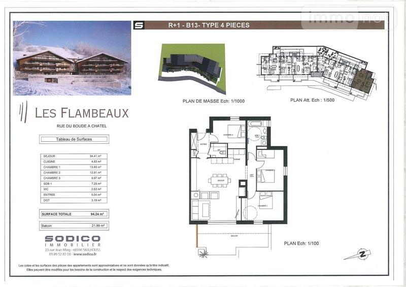 Appartement a vendre Châtel 74390 Haute-Savoie 94 m2 4 pièces 622000 euros