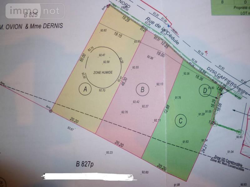Terrain a batir a vendre Caffiers 62132 Pas-de-Calais 1 m2