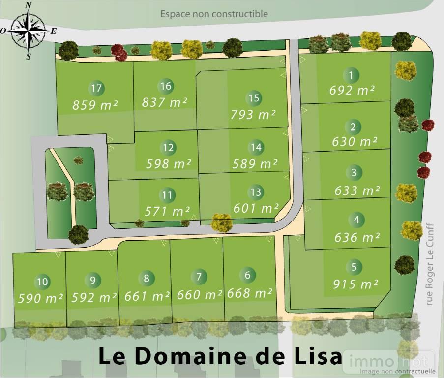Terrain a batir a vendre Pontivy 56300 Morbihan 571 m2  38796 euros