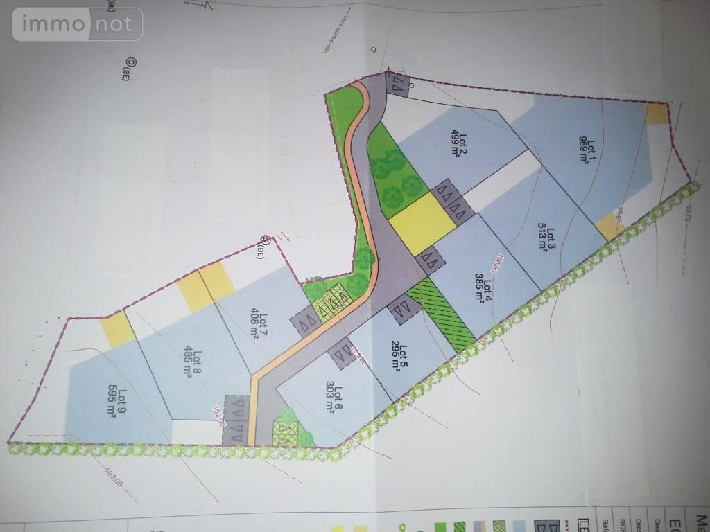 Terrain a batir a vendre Plouay 56240 Morbihan 969 m2  104372 euros