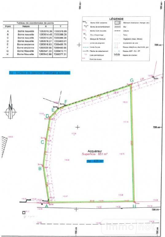 Terrain a batir a vendre Moustoir-Ac 56500 Morbihan  45101 euros