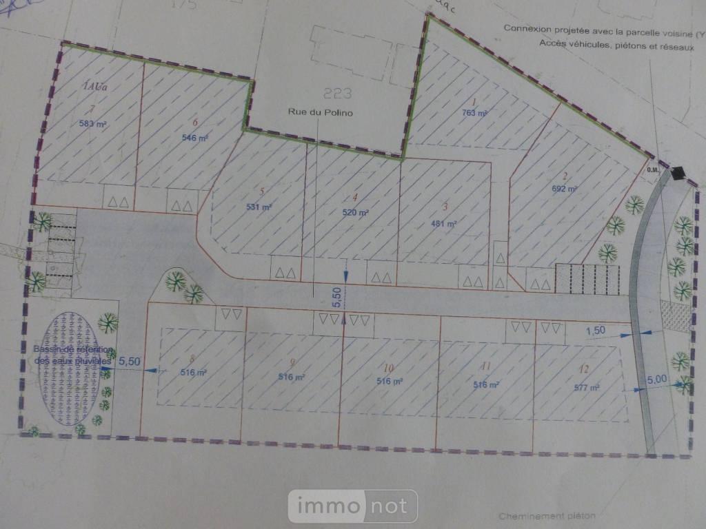 Terrain a batir a vendre Questembert 56230 Morbihan 481 m2  40880 euros