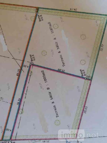Terrain a batir a vendre Civry 28200 Eure-et-Loir 1000 m2  26500 euros