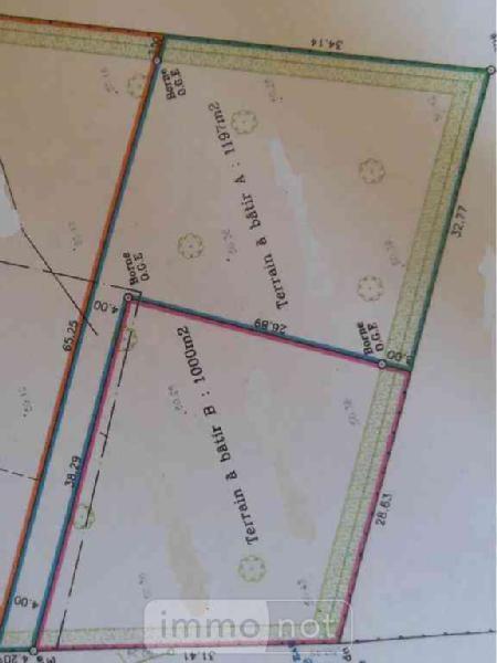 Terrain a batir a vendre Civry 28200 Eure-et-Loir 1197 m2  26500 euros