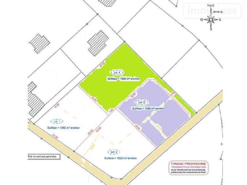 Terrain a batir a vendre Plouhinec 29780 Finistere 1380 m2  58228 euros