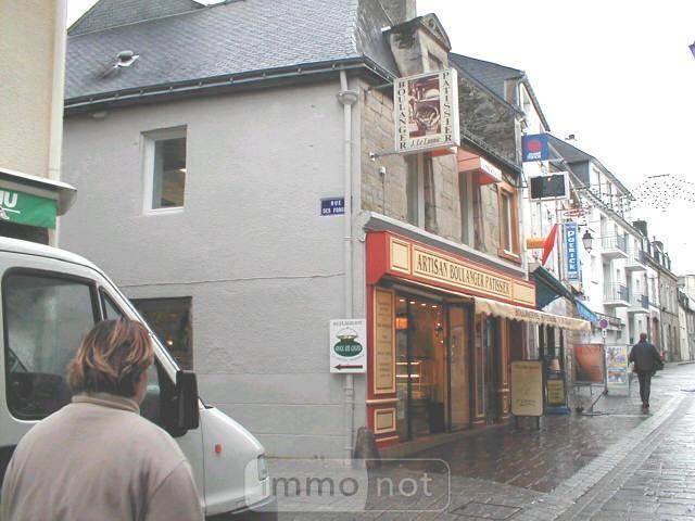 Fonds et murs commerciaux a vendre Pontivy 56300 Morbihan 150 m2  63600 euros