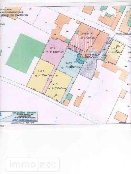 Terrain a batir a vendre Sainte-Gemme-la-Plaine 85400 Vendee 735 m2  42851 euros