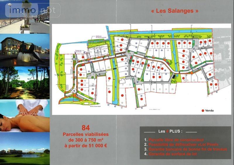 Terrain a batir a vendre Saint-Jean-de-Monts 85160 Vendee 344 m2  53550 euros
