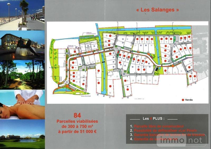 Terrain a batir a vendre Saint-Jean-de-Monts 85160 Vendee 433 m2  84000 euros