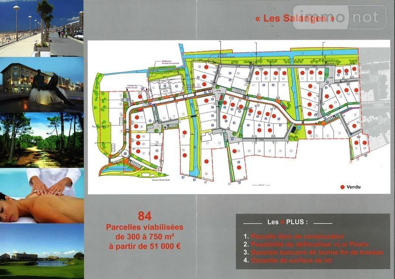 Terrain a batir a vendre Saint-Jean-de-Monts 85160 Vendee 383 m2  78750 euros