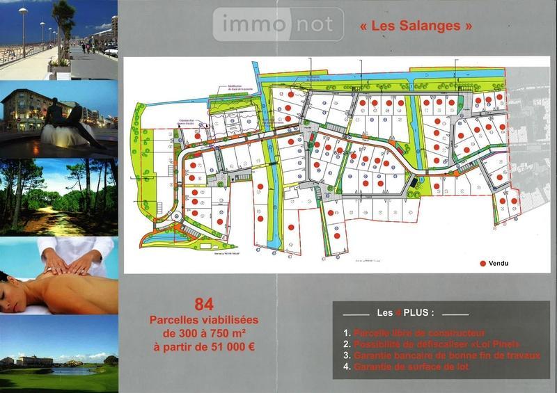 Terrain a batir a vendre Saint-Jean-de-Monts 85160 Vendee 458 m2  94500 euros