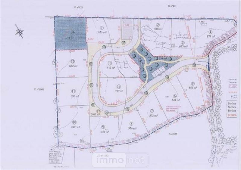 Terrain a batir a vendre Bois-de-Céné 85710 Vendee 693 m2  47747 euros