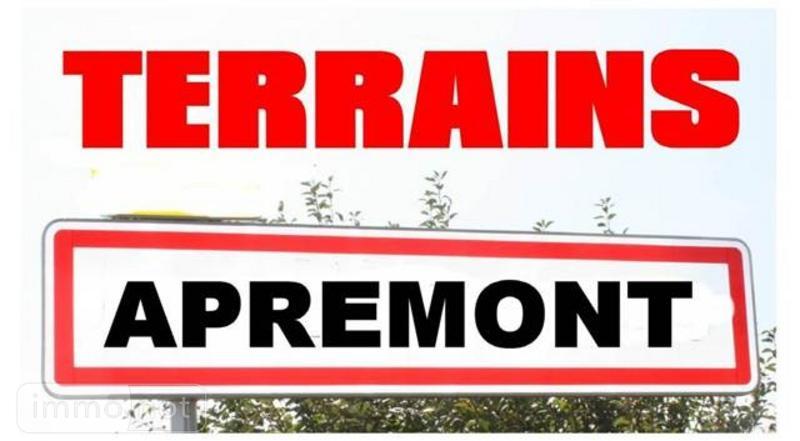 Terrain a batir a vendre Apremont 85220 Vendee 515 m2  36570 euros