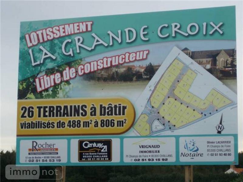 Terrain a batir a vendre Sallertaine 85300 Vendee 713 m2  57553 euros