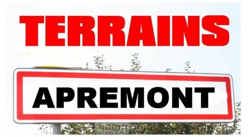 Terrain a batir a vendre Apremont 85220 Vendee 1256 m2  63170 euros
