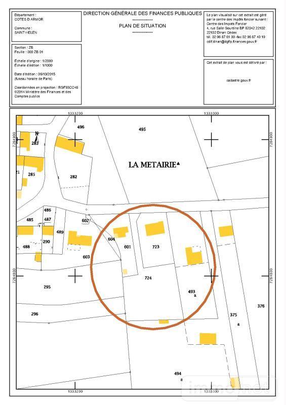Terrain a batir a vendre Saint-Hélen 22100 Cotes-d'Armor 1741 m2  117931 euros