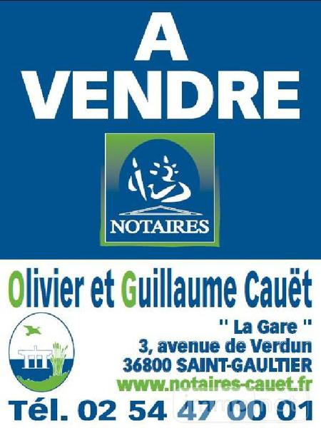 Terrain a batir a vendre Saint-Gaultier 36800 Indre 1137 m2  15900 euros