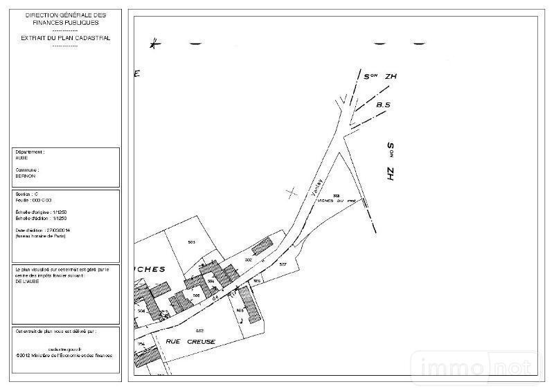 Terrain a batir a vendre Bernon 10130 Aube 1920 m2  15900 euros