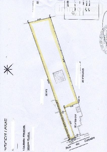 Terrain a batir a vendre Inchy-en-Artois 62860 Pas-de-Calais 2000 m2  55000 euros