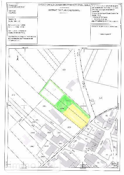Terrain a batir a vendre Meursac 17120 Charente-Maritime 1390 m2  53000 euros