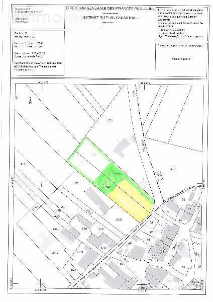 Terrain a batir a vendre Meursac 17120 Charente-Maritime 1391 m2  53000 euros