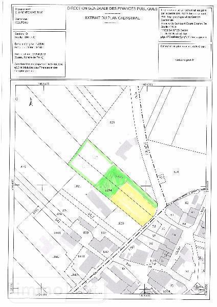 Terrain a batir a vendre Meursac 17120 Charente-Maritime 2781 m2  95400 euros