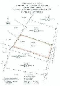 Terrain a batir a vendre Nogent-le-Bernard 72110 Sarthe 1512 m2  19233 euros