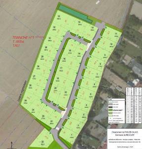 Terrain a batir a vendre Récourt 62860 Pas-de-Calais 665 m2  44800 euros