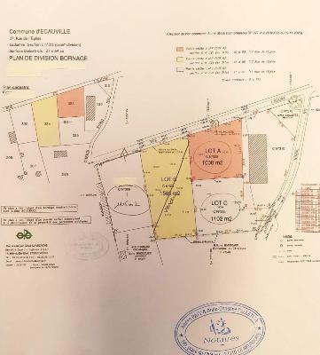 Terrain a batir a vendre Écauville 27110 Eure 1115 m2  43000 euros