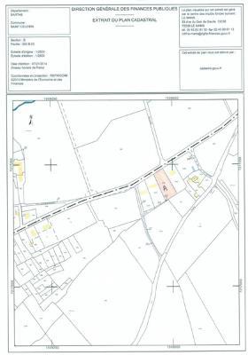 Terrain a batir a vendre Saint-Célerin 72110 Sarthe 1561 m2  30740 euros