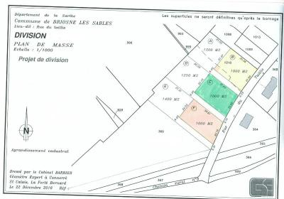 Terrain a batir a vendre Briosne-lès-Sables 72110 Sarthe 1000 m2  24380 euros