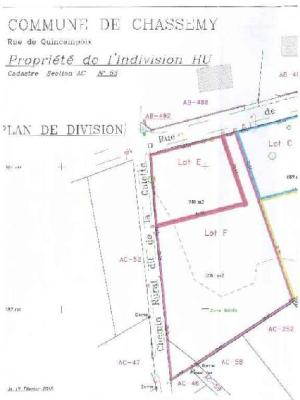 Terrain a batir a vendre Chassemy 02370 Aisne 2081 m2  43050 euros
