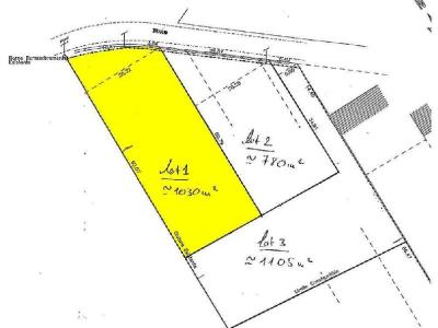 Terrain a batir a vendre Plozévet 29710 Finistere 1030 m2  32754 euros