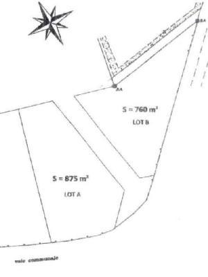 Terrain a batir a vendre Scaër 29390 Finistere 1000 m2  31800 euros