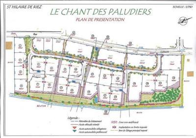 Terrain a batir a vendre Saint-Hilaire-de-Riez 85270 Vendee 559 m2  75429 euros