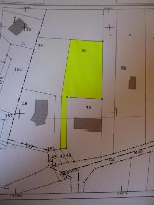 Terrain a batir a vendre Fontvannes 10190 Aube 1288 m2  74240 euros