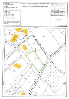 Terrain a batir a vendre Chenac-Saint-Seurin-d'Uzet 17120 Charente-Maritime 1306 m2  55120 euros