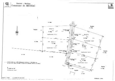 Terrain a batir a vendre Meursac 17120 Charente-Maritime 1100 m2