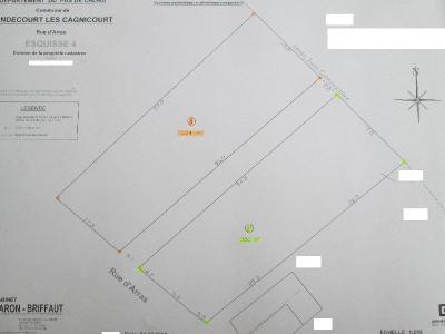 Terrain a batir a vendre Hendecourt-lès-Cagnicourt 62182 Pas-de-Calais 1034 m2  44000 euros
